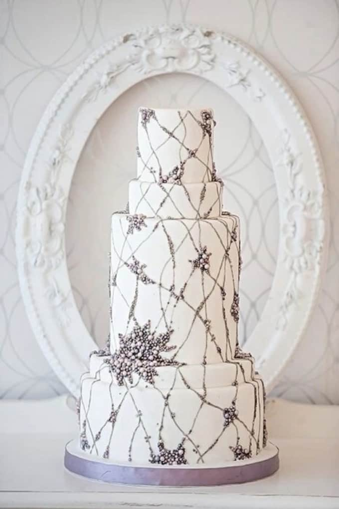 Jenny Packham wedding cake