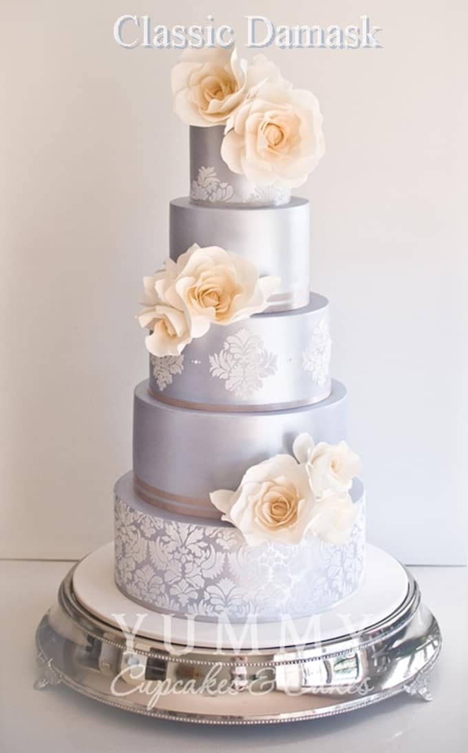 Ideas For Silver Wedding Anniversary Cakes