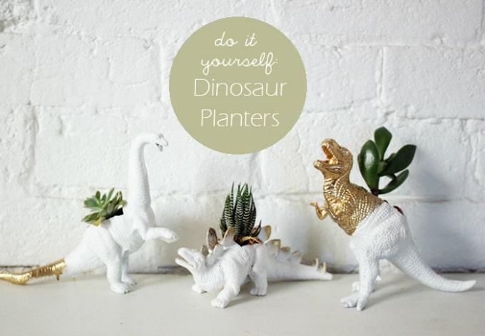 diy dino planters