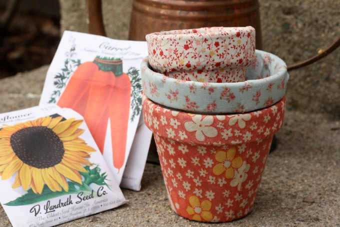 crafty terracotta pots