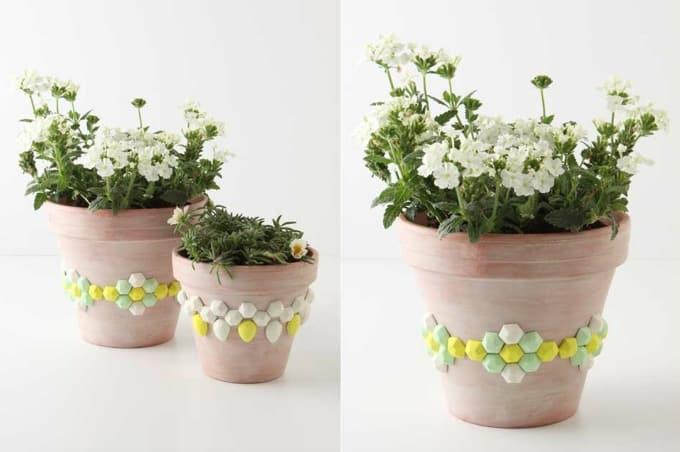 faceted gem flower pots