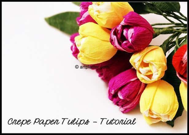 crepe paper tulips