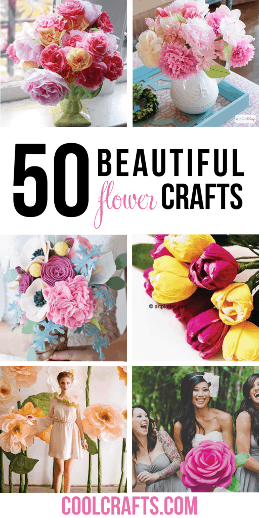 50 Beautiful Flower Craft Ideas You Have to Try