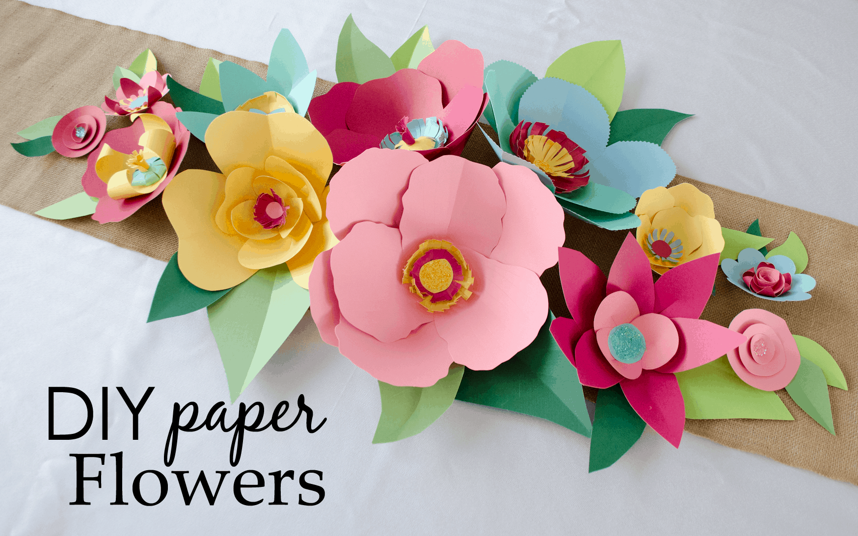 Diy flower craft ideas to try diy paper flowers jeuxipadfo Choice Image