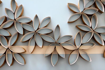 flowers made from toilet paper rolls