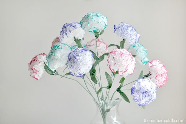 flowers made out of gift wrapping tissue paper