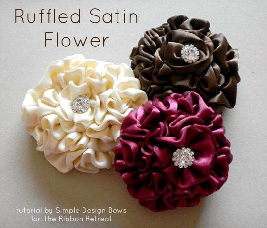 ruffled satin flower