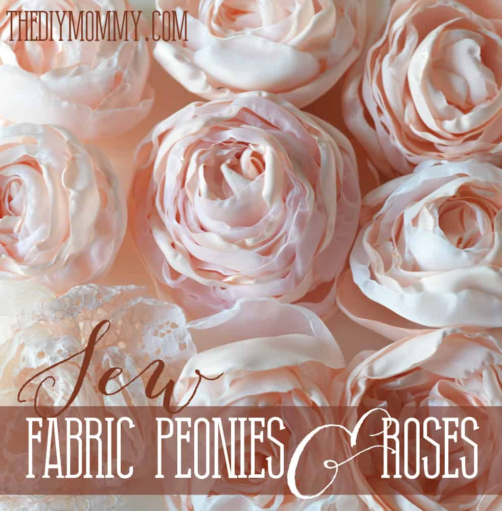 fabric peonies and cabbage roses