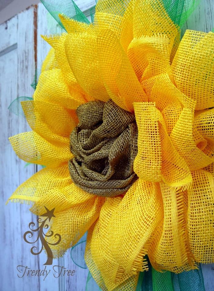 paper mesh sunflower