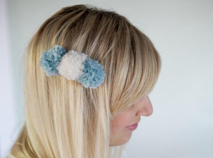 pom pom hair clip