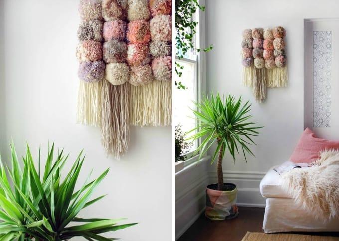 pom pom wall art