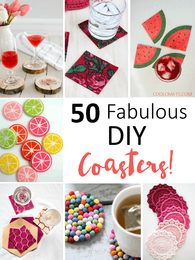 50 Crafty DIY Cup Coaster Ideas • Cool Crafts