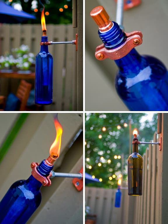 recycled bottle Tiki Torch