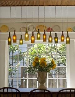 wine bottle Hanging Light Fixture