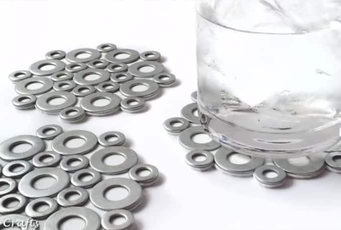 metal nuts coasters