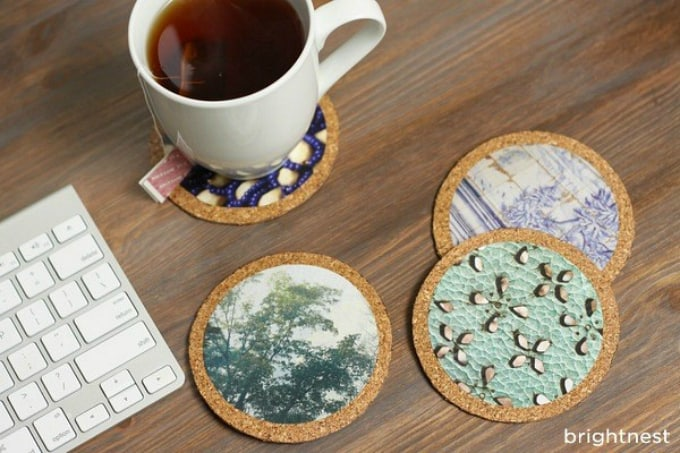 50 crafty diy cup coaster ideas cool crafts for Homemade coaster ideas
