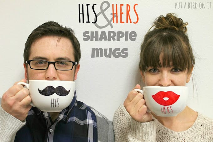 his and hers sharpie mugs