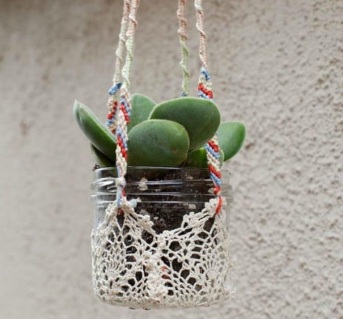 doily plant holders