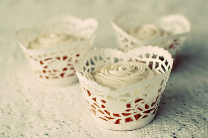 doily cupcake wrappers