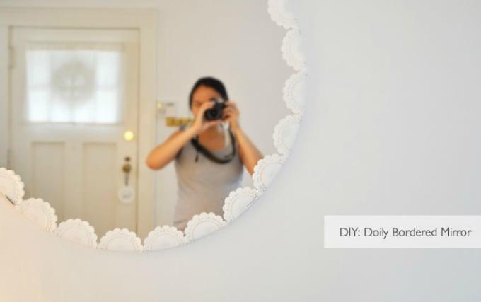 doily circular mirror