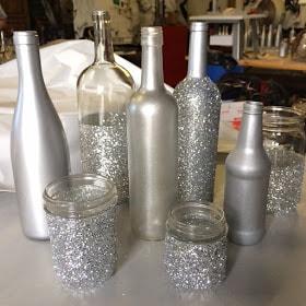 wine bottle wedding centerpiece