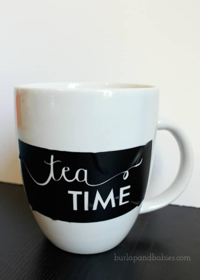 tea inspired sharpie mug