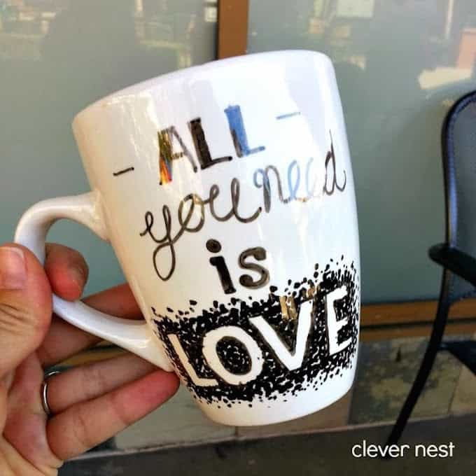valentines day sharpie mug