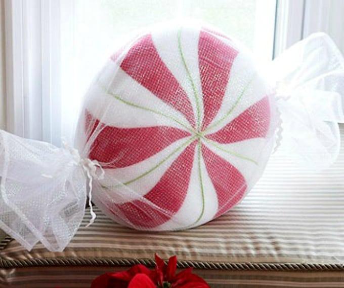 giant peppermint pillow