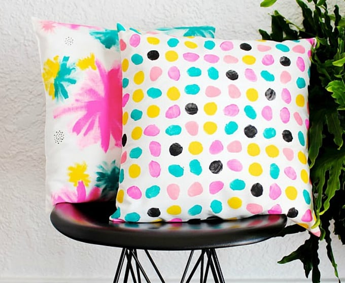 hand-painted pillows