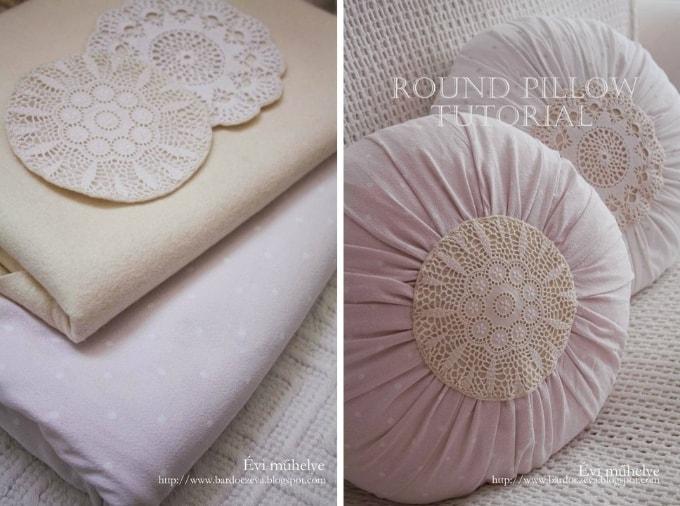round pillow tutorial
