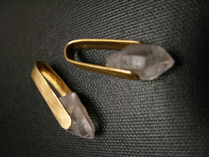 high-end gemstone earrings