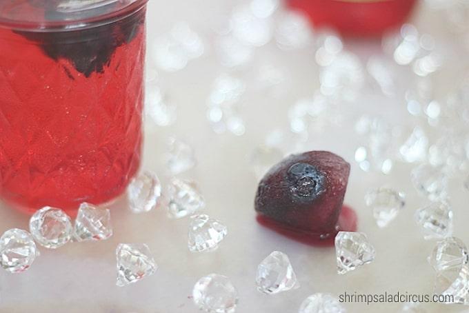 gemstone-shaped ice cubes