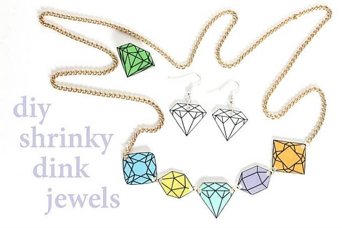 diy shrinky dink jewels