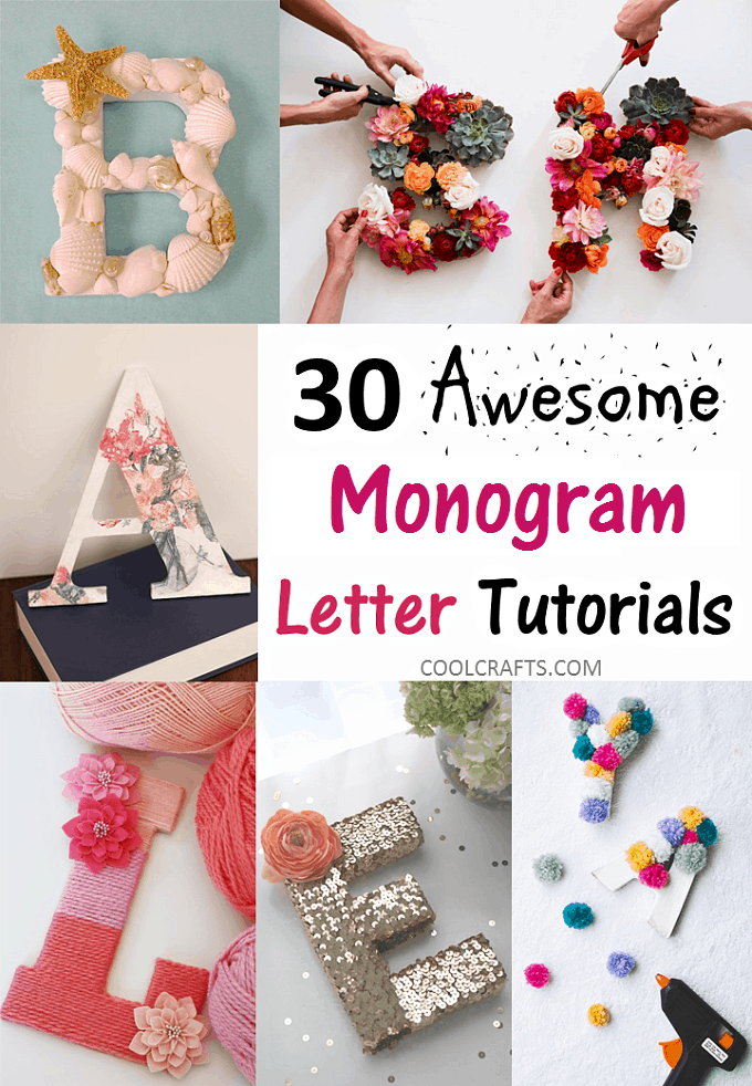 monogram letters tutorial