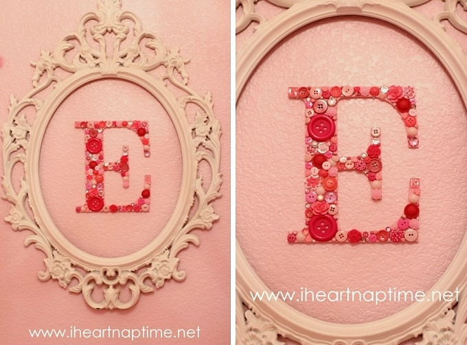diy monogram button letters