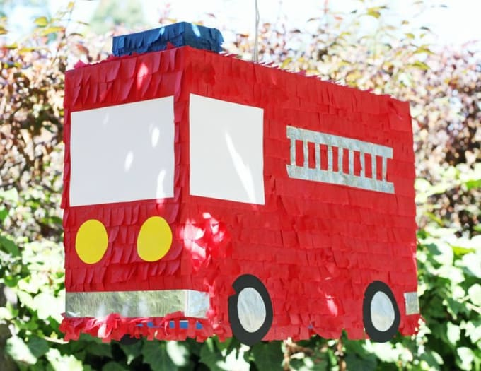 fire engine themed pinata