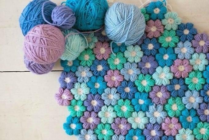 crochet floral rug