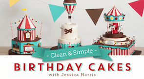 Clean and simple birthday cakes