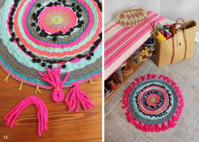 woven circle mat