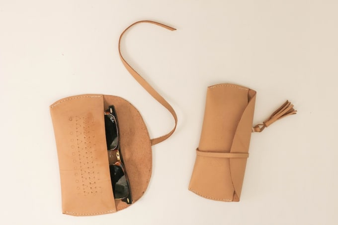 leather sunglasses