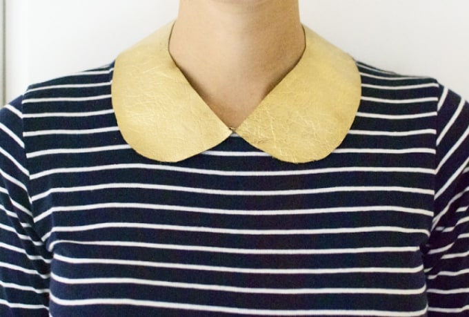 gold leather collar