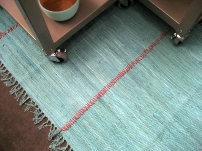 sewing two rugs together