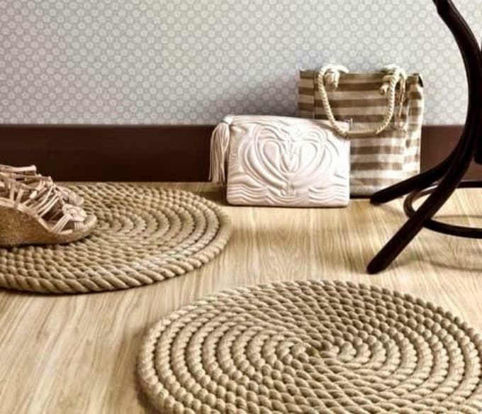round rope mat or rug