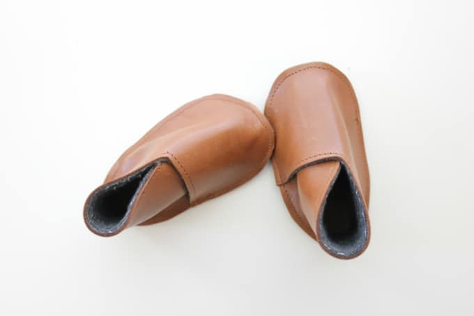 diy leather baby boy boots