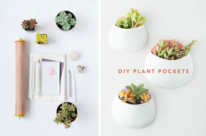clay wall planters