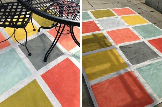 diy canvas rug