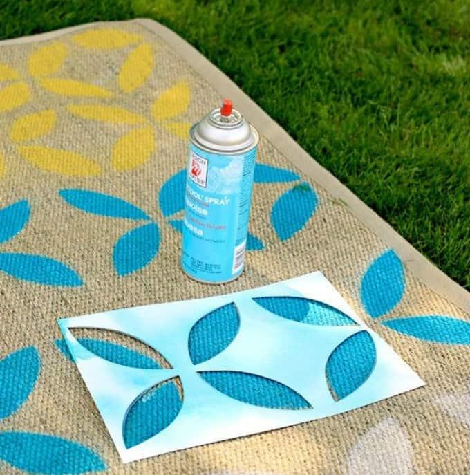 stenciled outdoor rug