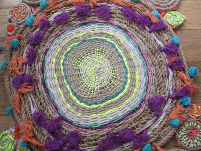 bohemian-inspired aesthetic rug