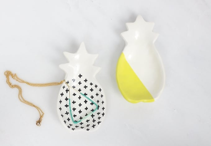 DIY pineapple ring dishes