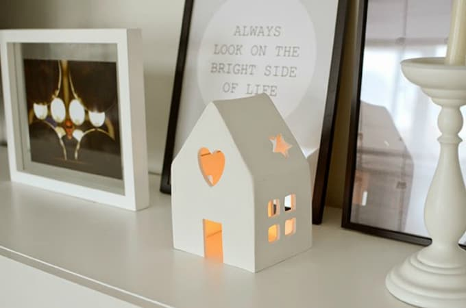 clay candle house holder